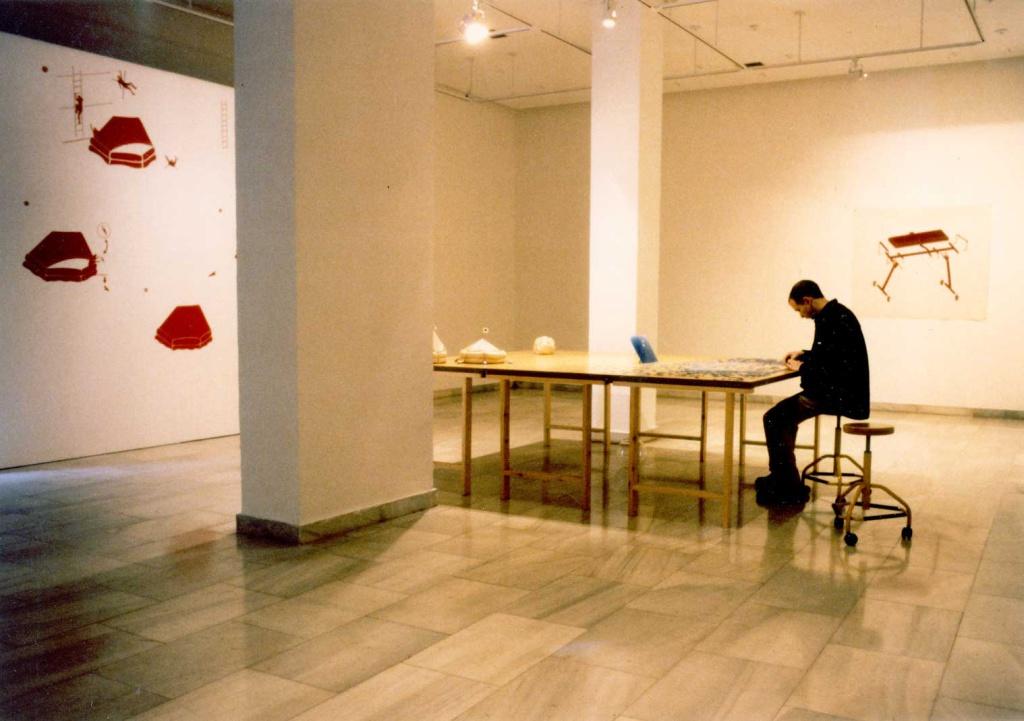 Instalación realizada para la Sala de Recursos Humanos de la Comunidad de Madrid, 1996